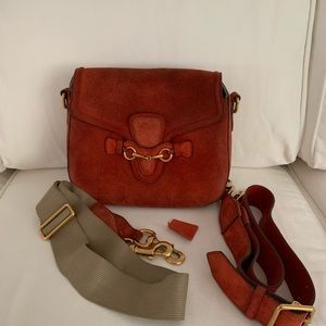 Authentic Gucci Lady Web Suede Orange